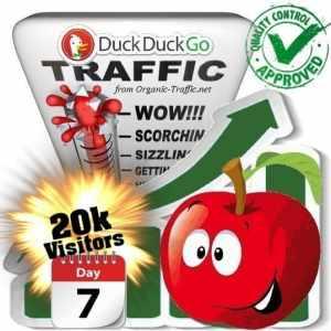 duckduckgo search traffic visitors 7days 20k