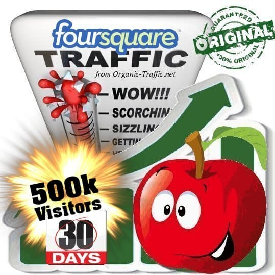 buy 500k foursquare social traffic visitors in 30 days