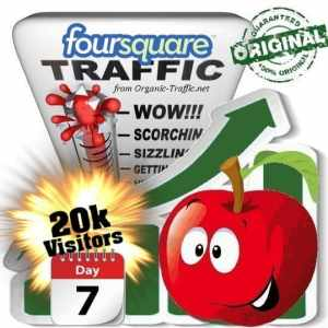 buy 20.000 foursquare social traffic visitors 7 days