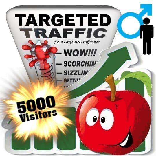 buy 5000 gender targeted traffic visitors - Male