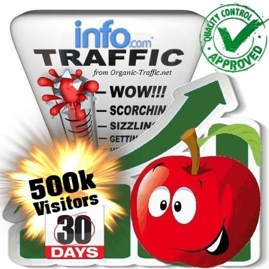 info.com search traffic visitors 30days 500k