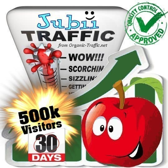 buy 500.000 jubii.dk search traffic visitors in 30 days