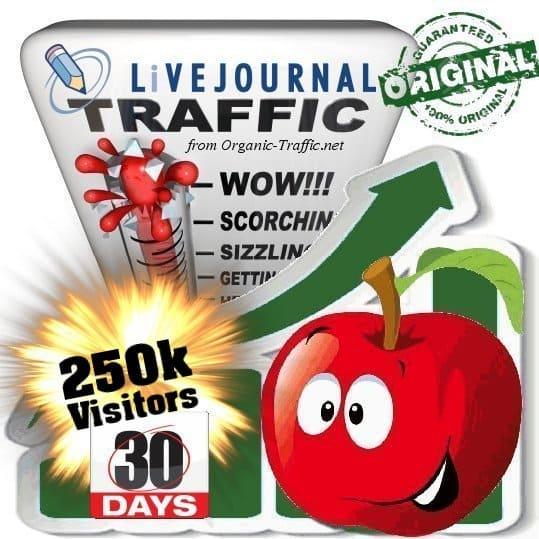 250k livejournal social traffic visitors in 30 days