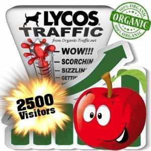 2500 lycos organic traffic visitors