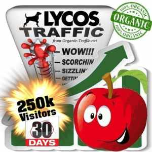 buy 250k lycos organic traffic visitors for 30days