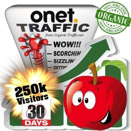 buy 250k onet organic traffic visitors for 30days
