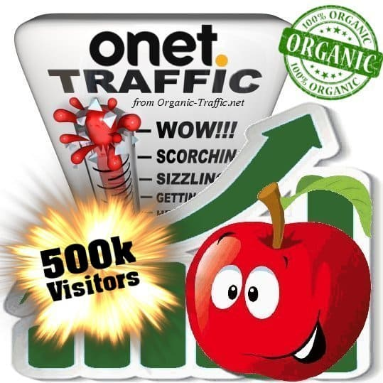 onet organic traffic visitors