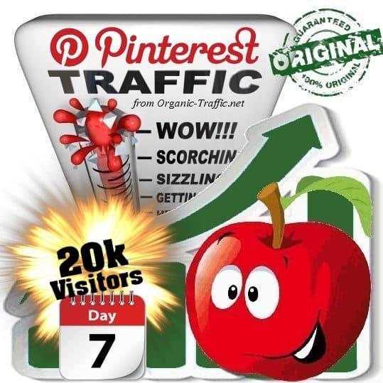 buy 20k pinterest social traffic visitors 7 days