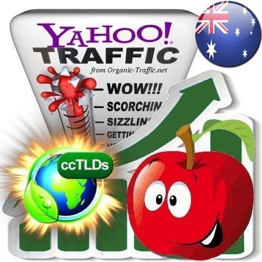 buy yahoo australia organic traffic visitors