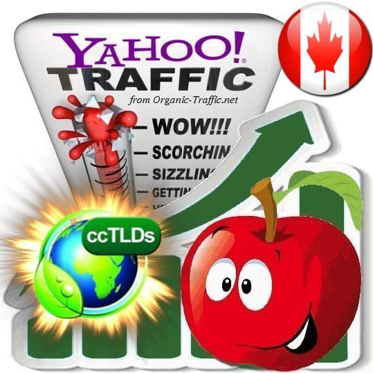 buy yahoo canada organic traffic visitors