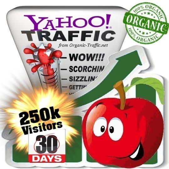 buy 250k yahoo organic traffic visitors 30days