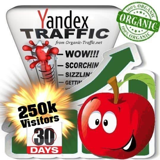 buy 250k yandex organic traffic visitors for 30days