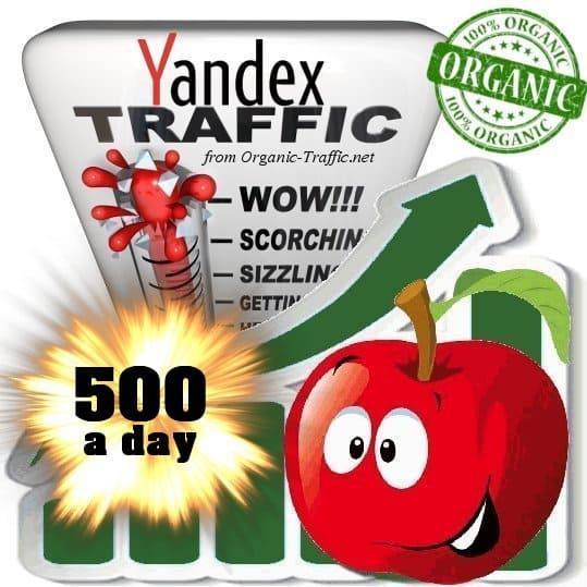 yandex organic traffic visitors 500 a day