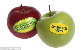organic and local apples