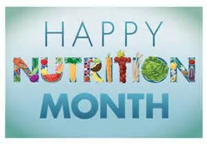 National Nutrition Month March