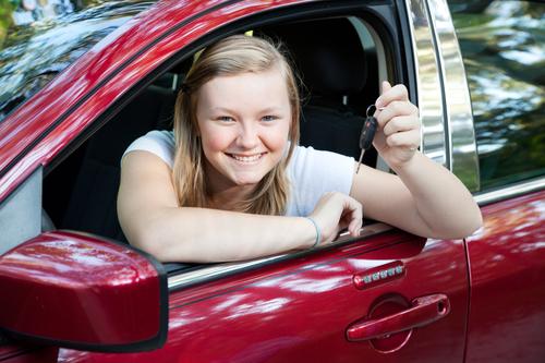 Beautiful Teen Girl with New Car