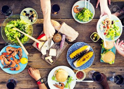 Food Table Celebration Delicious Party Meal Concept