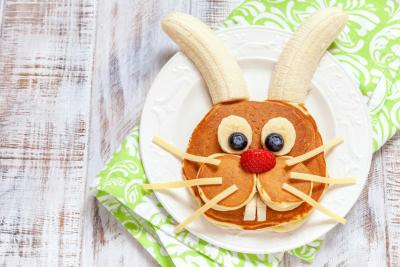 Easter bunny pancakes