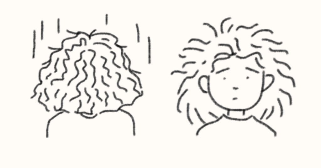 My curly hair as a lion's mane