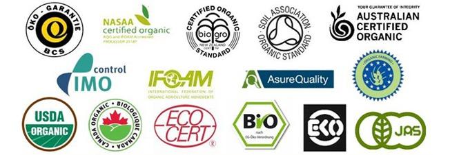 Organic certification bodies logo