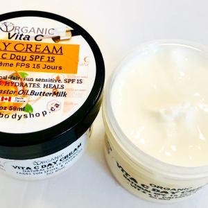 Vita C Day Face Cream Spf 15-castor oil-buttermilk.