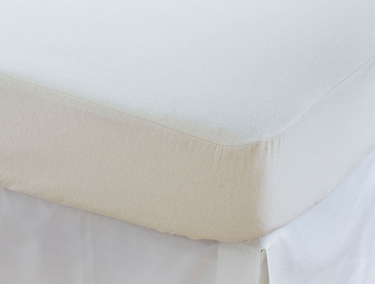 100 Organic Cotton 13 Oz Flannel Lays The Perfect Foundation For Your Bed Thick Absorbent Protects Mattress Without A Lot