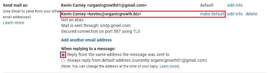 set email address details2