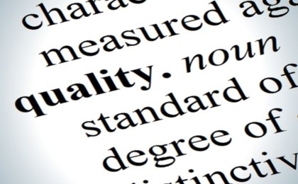 "Image of text from a dictionary showing the definition of the word ""quality"""