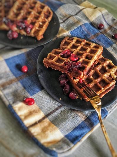 Ontbijt wafels met cranberry final