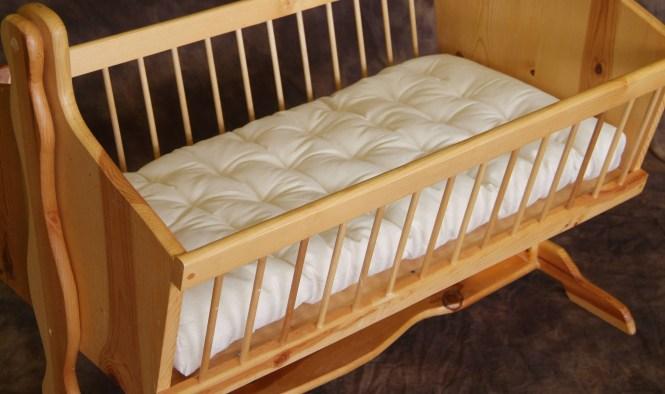 Natural Wool Cradle Bassinet Mattress No Plastic