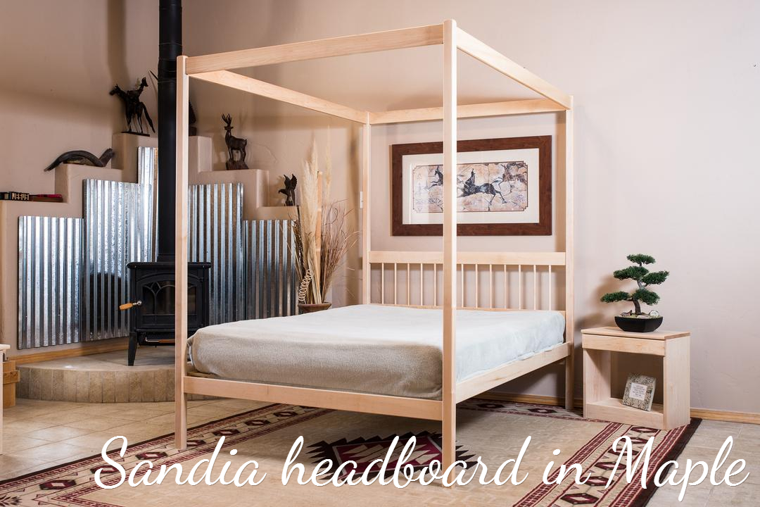 Organic Bedroom Untreated Solid Wood Bed Frame 4