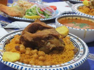 Mutton and couscous
