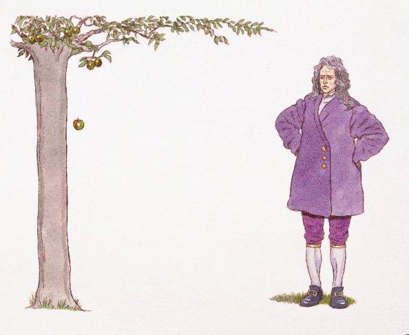 절대적 단위로 공간을 정의한 Newton (이미지 출처: Phenomenica)