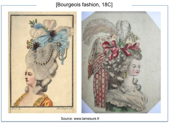 부르주아 패션은 동일시와 차별화에 기반한 정체성을 설명하는 대표적인 사례이다.
