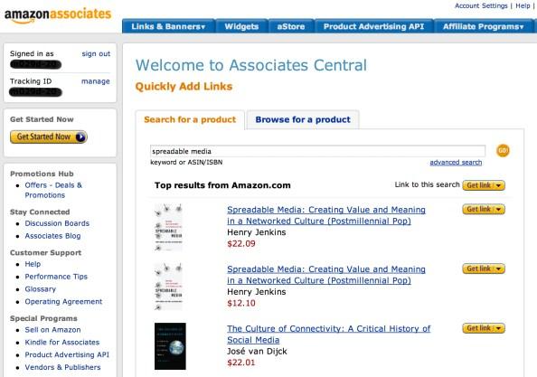 Amazon Associates 페이지에서 추천하고 싶은 제품을 선택한 후 링크나 위젯을 복사하여 포스트에 삽입하면 된다.