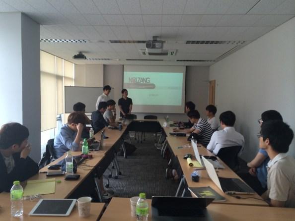 서울대 벤처연합전공 제품기획론 수업. 팀별로 서비스 기획이 진행되었다.