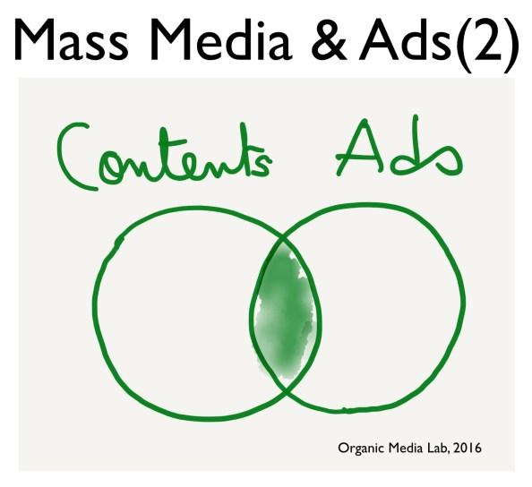 광고를 광고라고 부를 수 없는 현실. 공간에서 네트워크로 그라운드가 넘어가는 전환기에 광고와 콘텐츠를 구분하기 어려운 교집합 영역이 점차 커지고 있다.