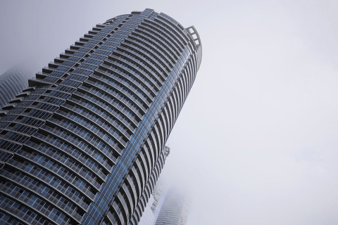 Toronto - Skycrapers in the clouds