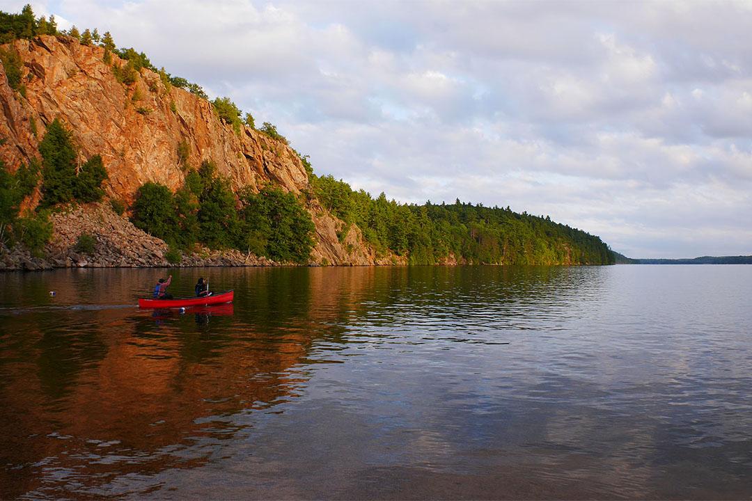 Canoeing on Lower Mazinaw Lake
