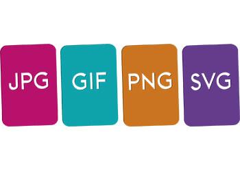JPG, SVG, GIF and PNG image filetypes
