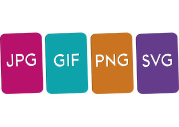 JPG, SVG, GIF and PNG image filetypes