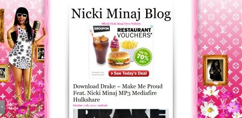 Nicki Minaj uses WordPress