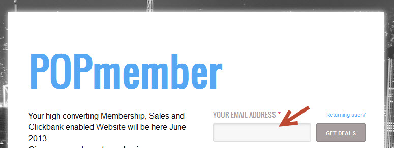 POPmember offers hosted and affordable Sales and membership Websites.