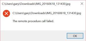 How to resolve the Windows 10 Remote Procedure Call error