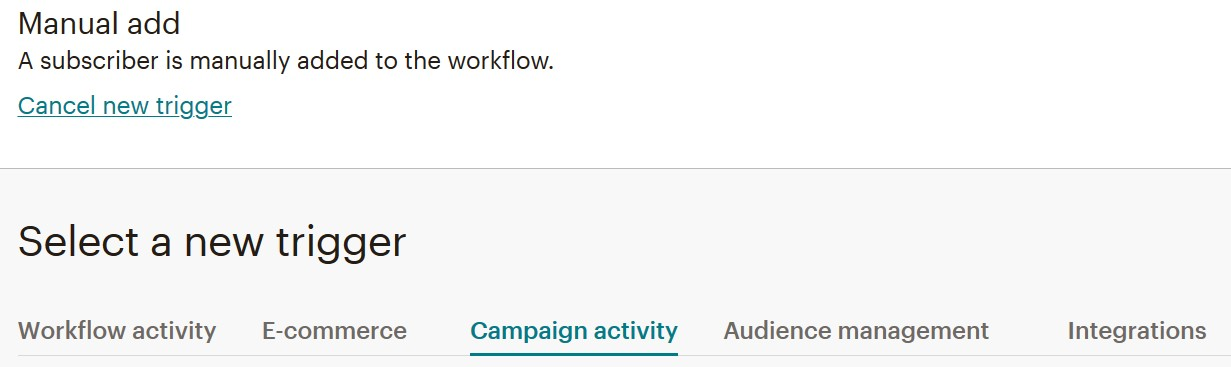 Editing an Automated Mailchimp campaign