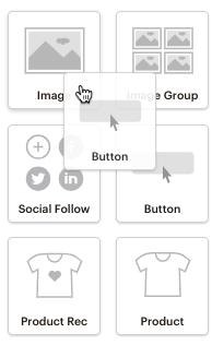 The Mailchimp button content block
