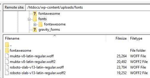 Adding Google fonts to your web server