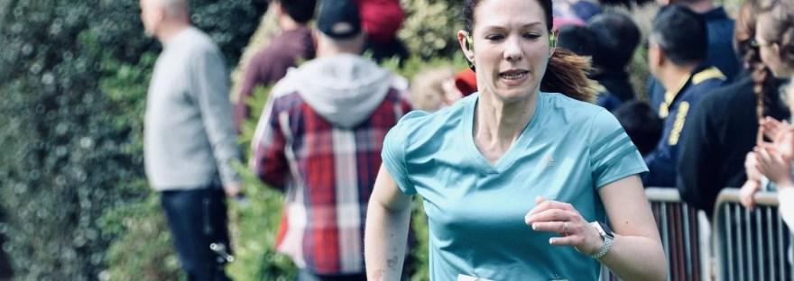 Laura Williams running Leicestershire 10K 2018