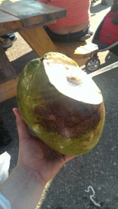 Far, en annan man kunde faktiskt få upp min kokosnöt