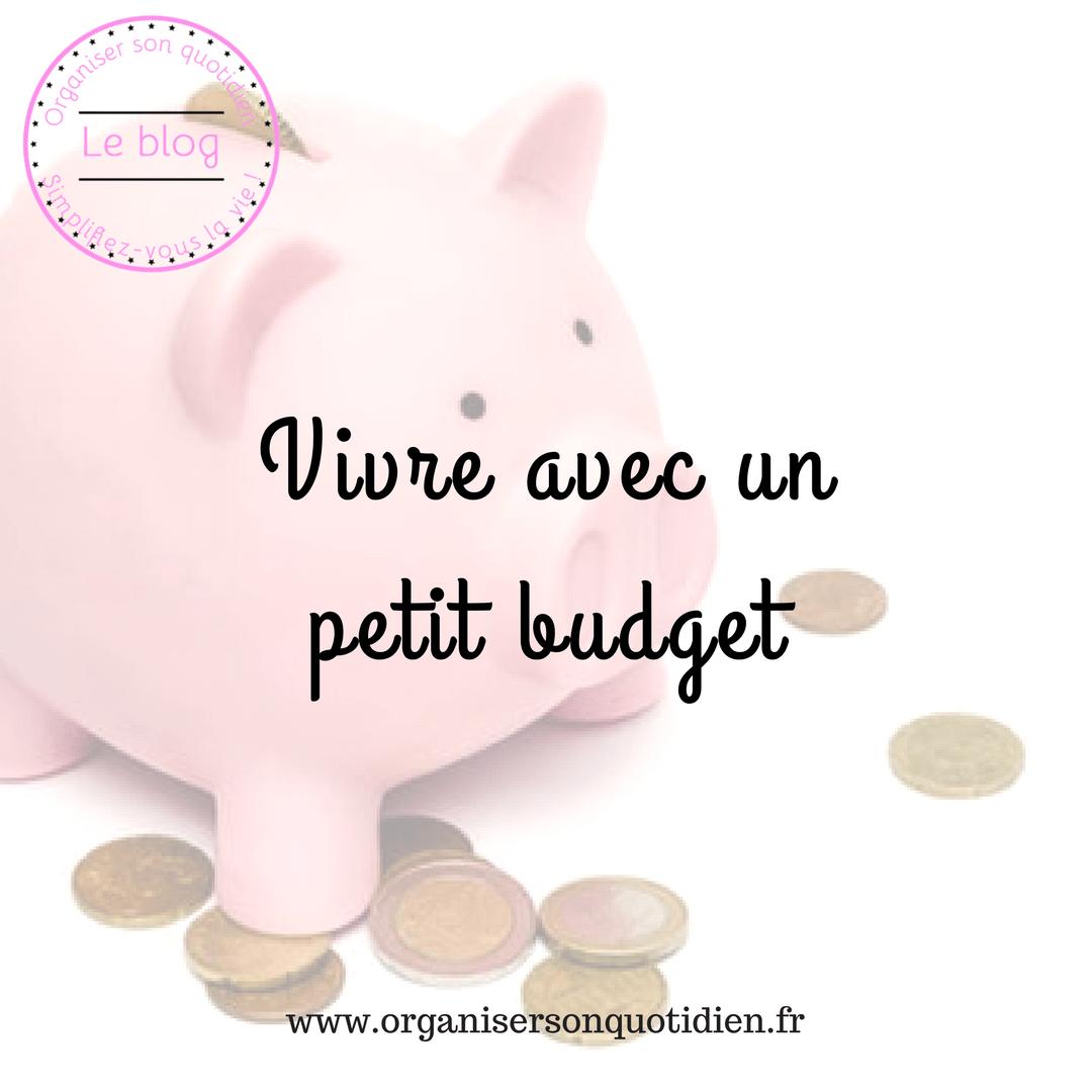 Comment vivre avec un petit budget